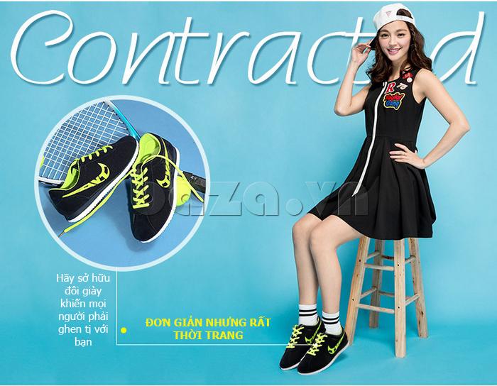 Giày nữ độn đế dáng thể thao Wadnaso sang trọng