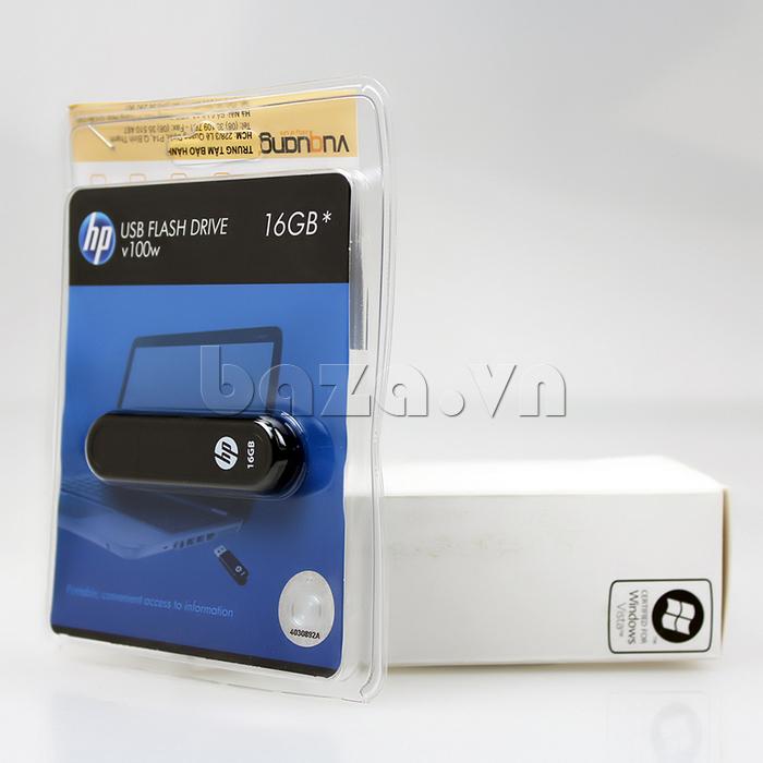 Thẻ nhớ USB HP V100 16G lưu trữ dữ liệu thông minh