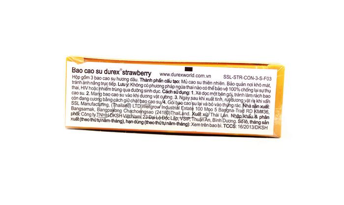 Bao cao su Durex Strawberry - nồng nàn hương dâu