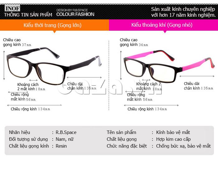 Kính mắt thời trang RBSPACE 015 - thiết kế đa dạng