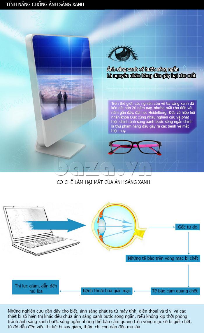 Kính mắt thời trang RBSPACE 015 - tính năng chống ánh sáng xanh