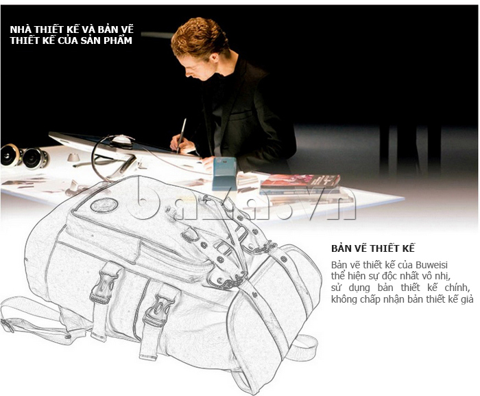 NTK thiết kế bản vẽ Balo du lịch BuweisiS053