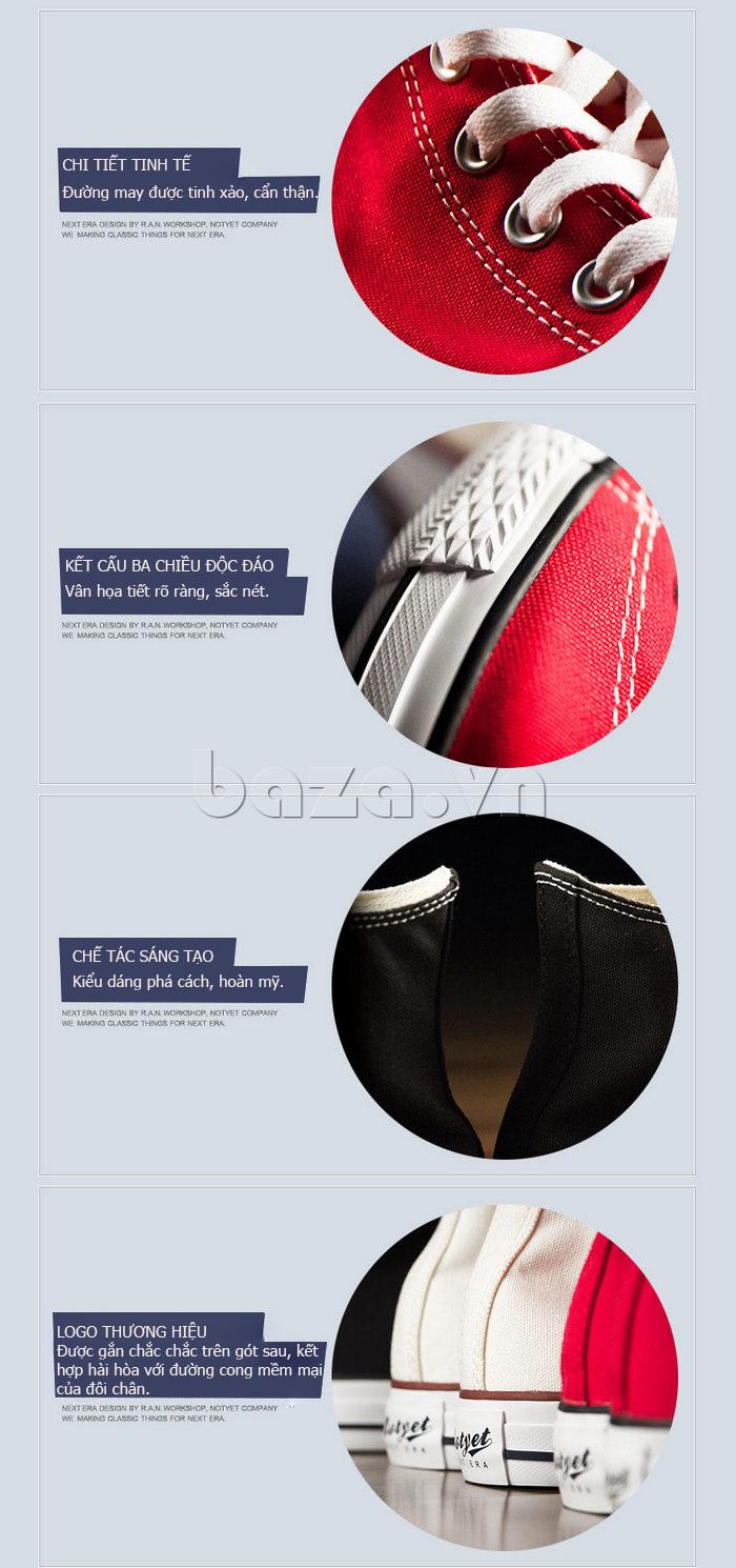 Giày vải nam Notyet NY-ZY3215 thiết kế logo thương hiệu độc đáo