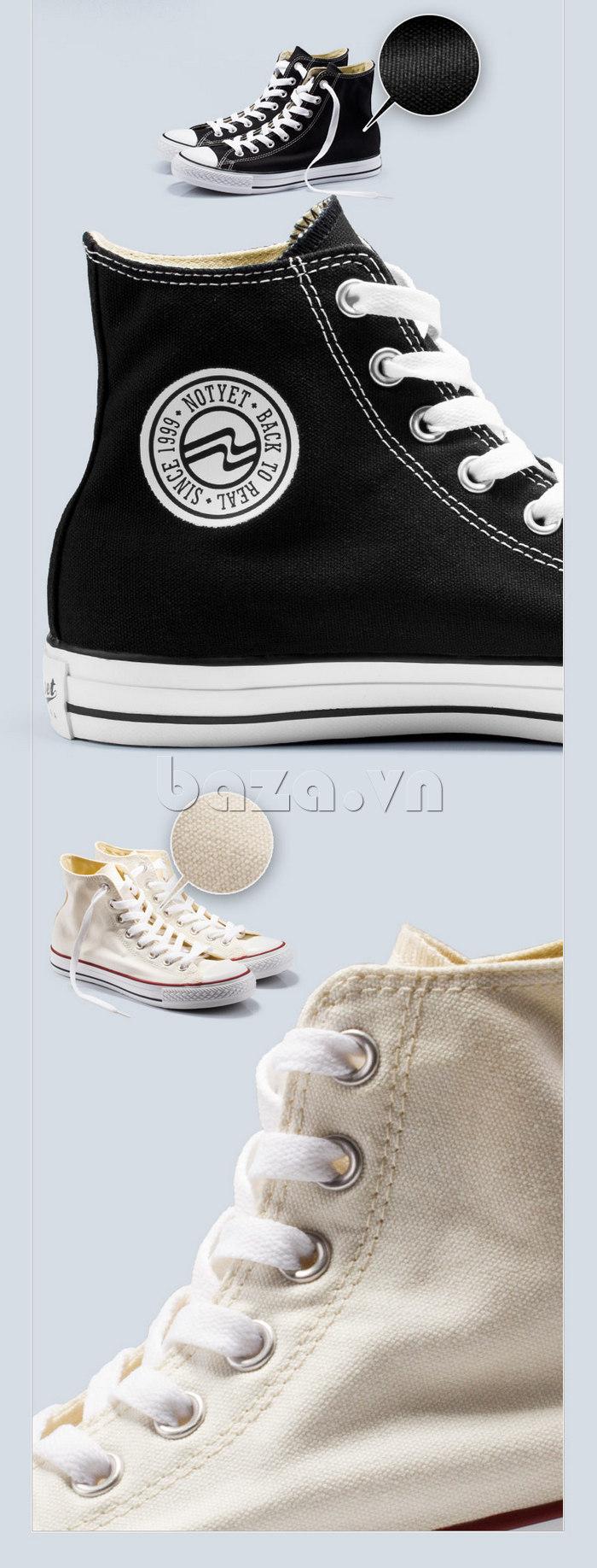 Giày vải nam Notyet NY-ZY3215 dây giày tinh tế khéo léo