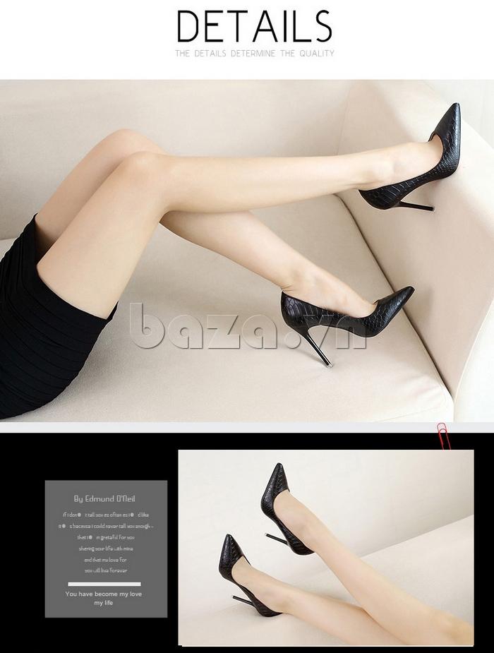 Giày nữ gót nhọn KAKANIYA 88-18 cá tính