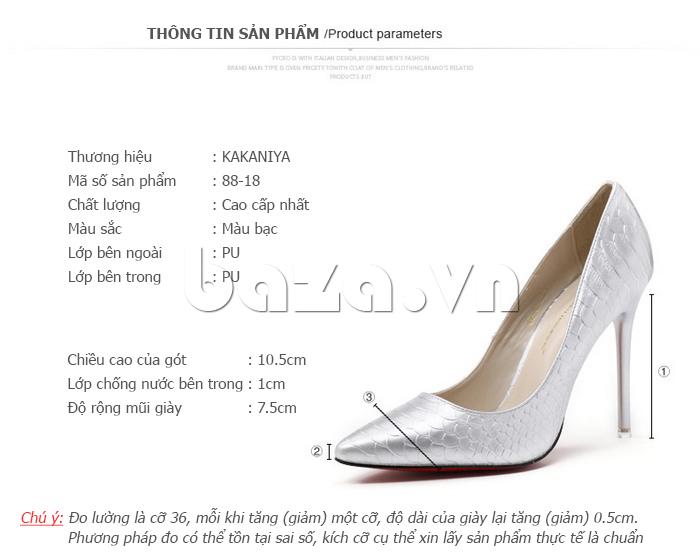 Thông tin sản phẩm Giày nữ gót nhọn KAKANIYA 88-18