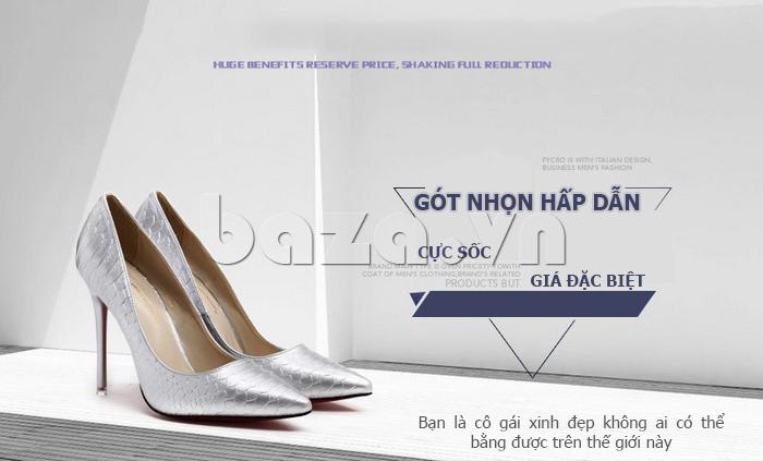 Giày nữ gót nhọn cá tính KAKANIYA 88-18