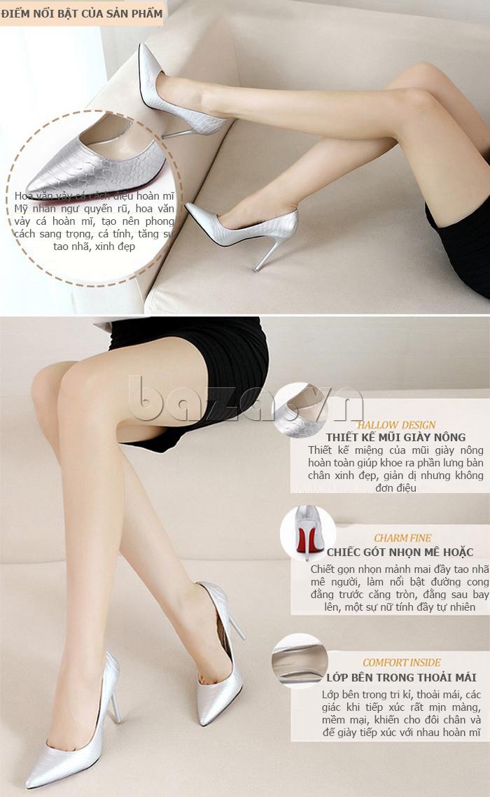 Giày cao gót nữ mũi nhọn thời trang  KAKANIYA 88-18