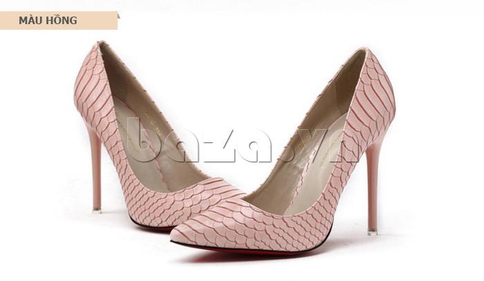 Giày nữ gót nhọn màu hồng KAKANIYA 88-18
