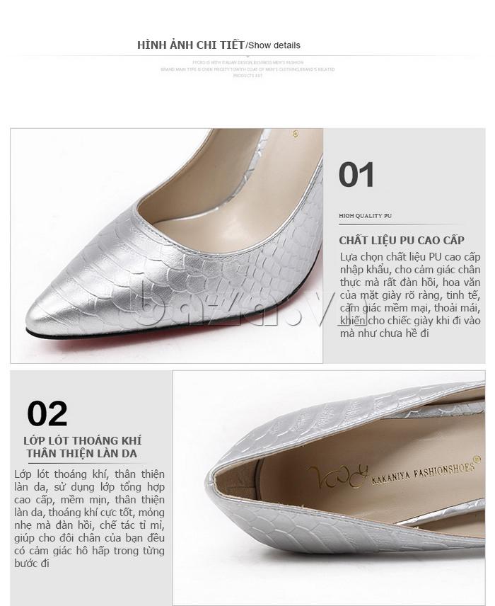 Đặc điểm của Giày nữ gót nhọn KAKANIYA 88-18