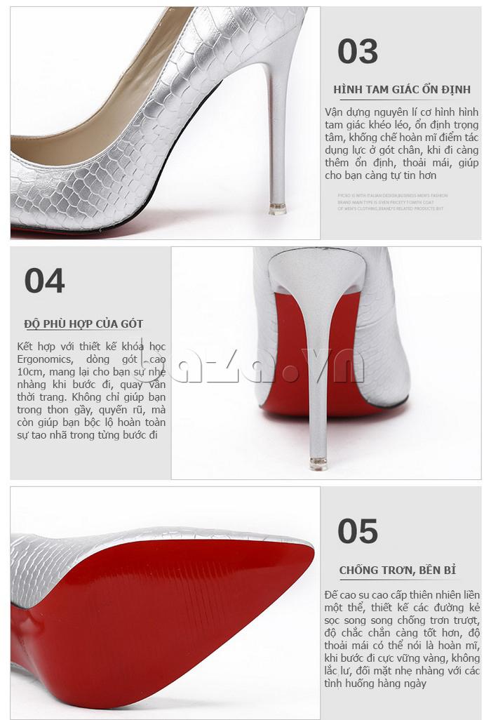 Ưu điểm của Giày nữ gót nhọn KAKANIYA 88-18