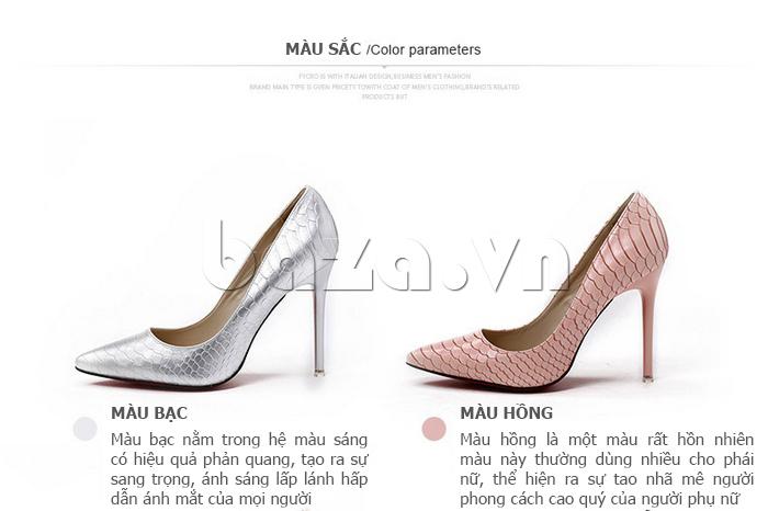 màu sắc của Giày nữ gót nhọn KAKANIYA 88-18