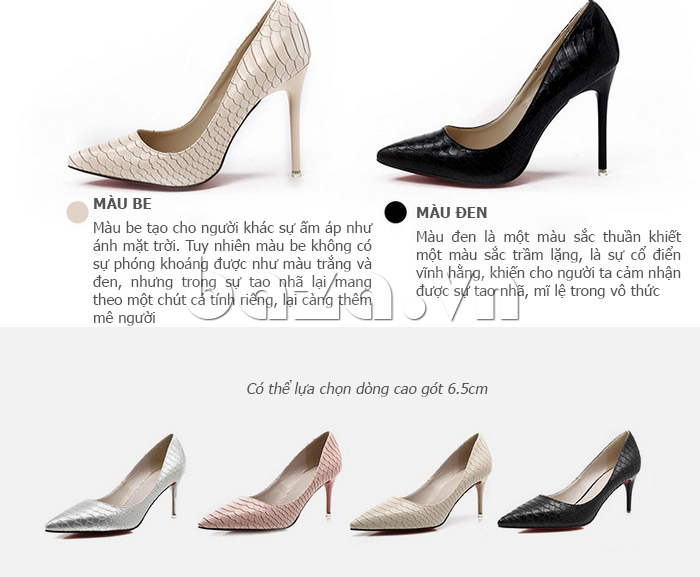 ý nghĩa màu sắc của Giày nữ gót nhọn KAKANIYA 88-18