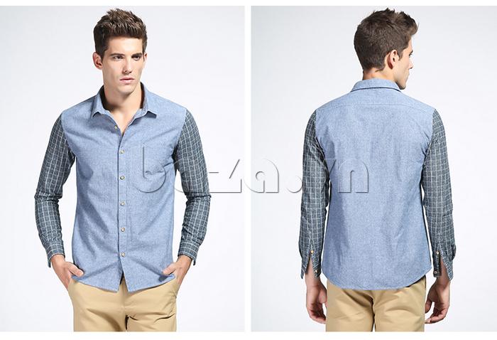 Áo sơ mi nam No1Dara CSN41207 Tay áo kẻ sọc trẻ trung giúp bạn thêm tự tin và nổi bật