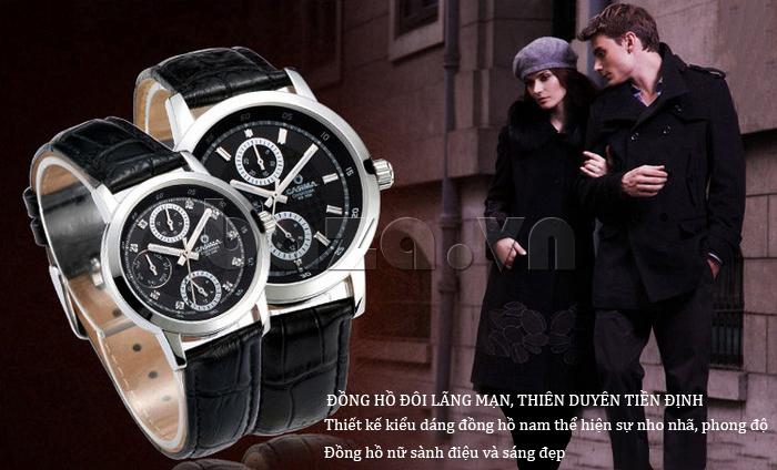 Đồng hồ nam Casima 5105 kim giờ to bản độc