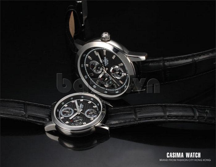 Đồng hồ nam Casima 5105 kim giờ to bản chính hãng