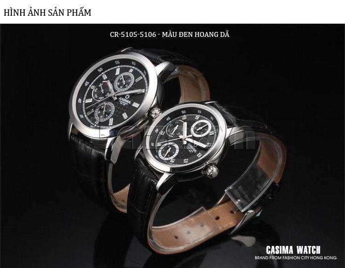 Đồng hồ nam Casima 5105 kim giờ to bản chất lượng