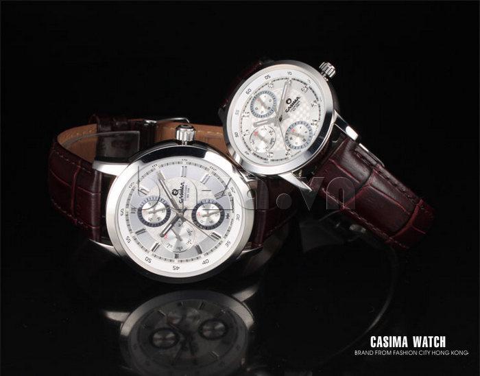 Đồng hồ nam Casima 5105 kim giờ to bản chất lượng cao