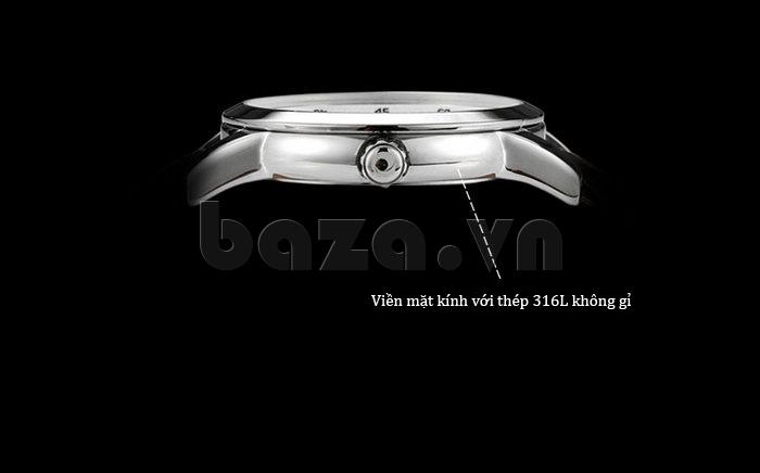 Đồng hồ nam Casima 5105 kim giờ to bản tinh xảo
