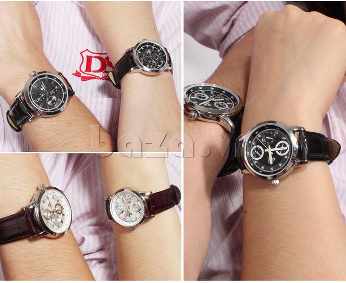 Đồng hồ nam Casima 5105 kim giờ to bản thiết kế đẹp