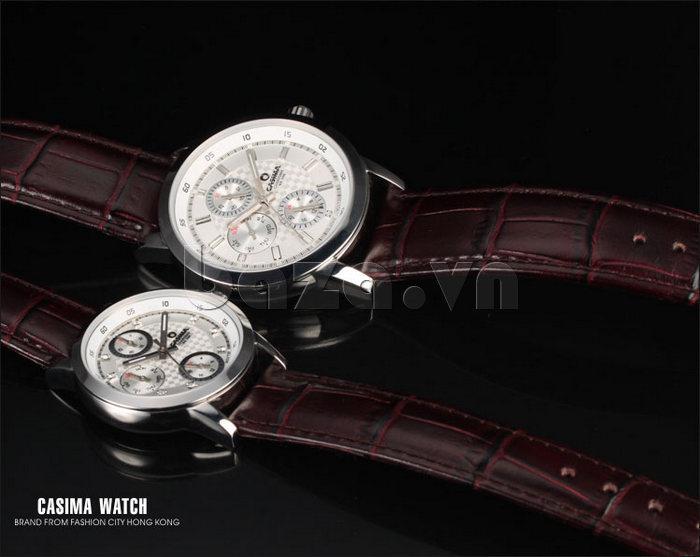 Đồng hồ nam Casima 5105 kim giờ to bản cao cấp và đẹp
