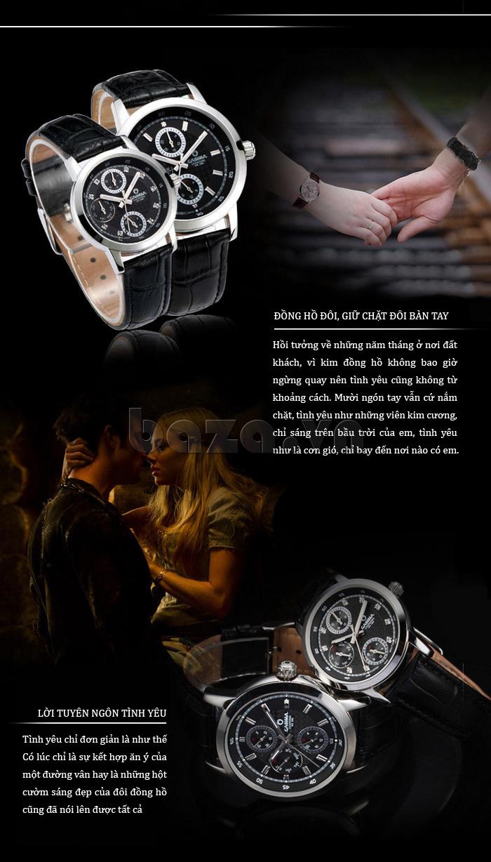 Đồng hồ nam Casima 5105 kim giờ to bản ấn tượng