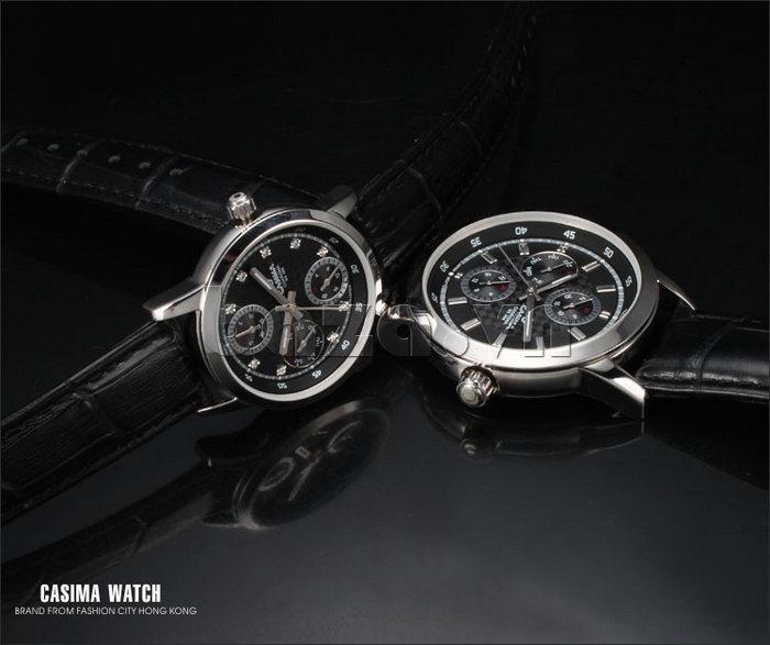 Đồng hồ nam Casima 5105 kim giờ to bản bền
