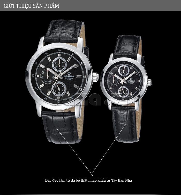 Đồng hồ nam Casima 5105 kim giờ to bản tuyệt vời