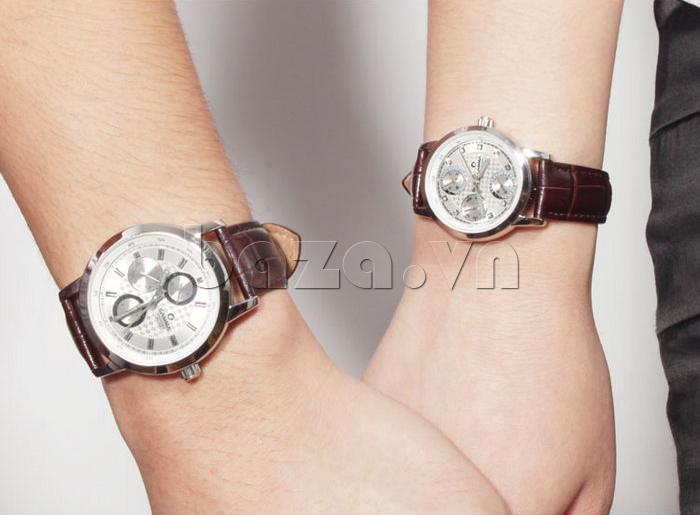 Đồng hồ nam Casima 5105 kim giờ to bản cuốn hút
