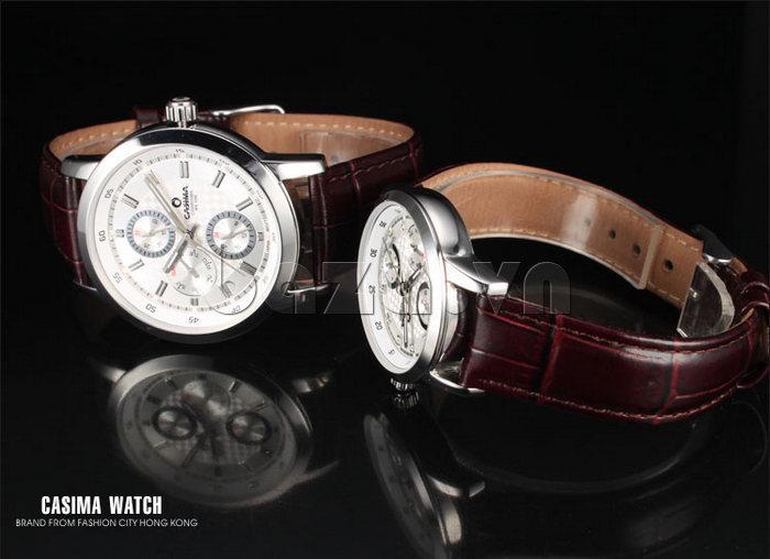 Đồng hồ nam Casima 5105 kim giờ to bản hiện đại