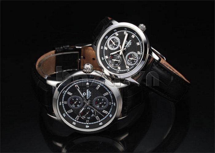 Đồng hồ nam Casima 5105 kim giờ to bản sang trọng