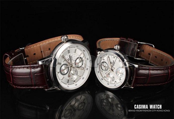 Đồng hồ nam Casima 5105 kim giờ to bản bền đẹp