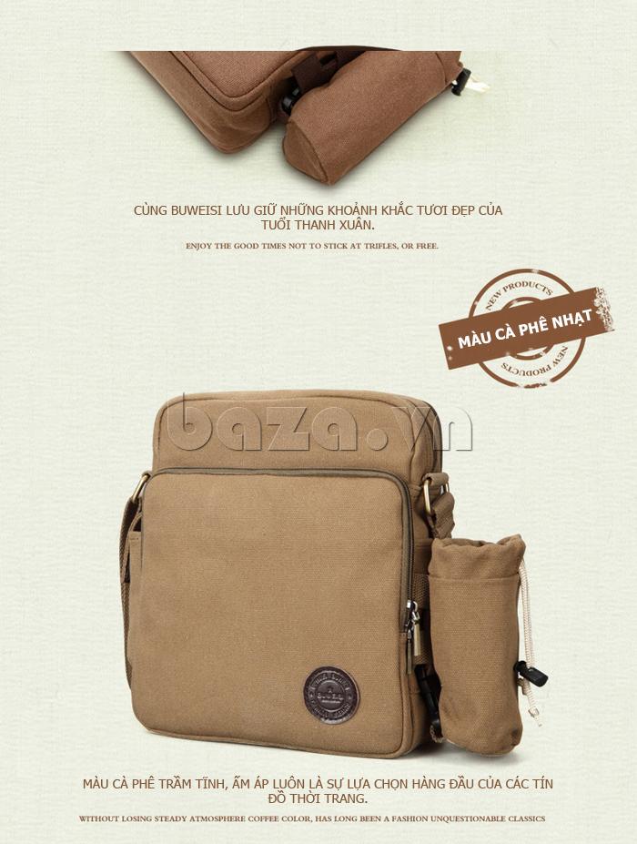 Túi vải nam Feger S038 hai túi nhỏ bên sườn túi vải tuyệt