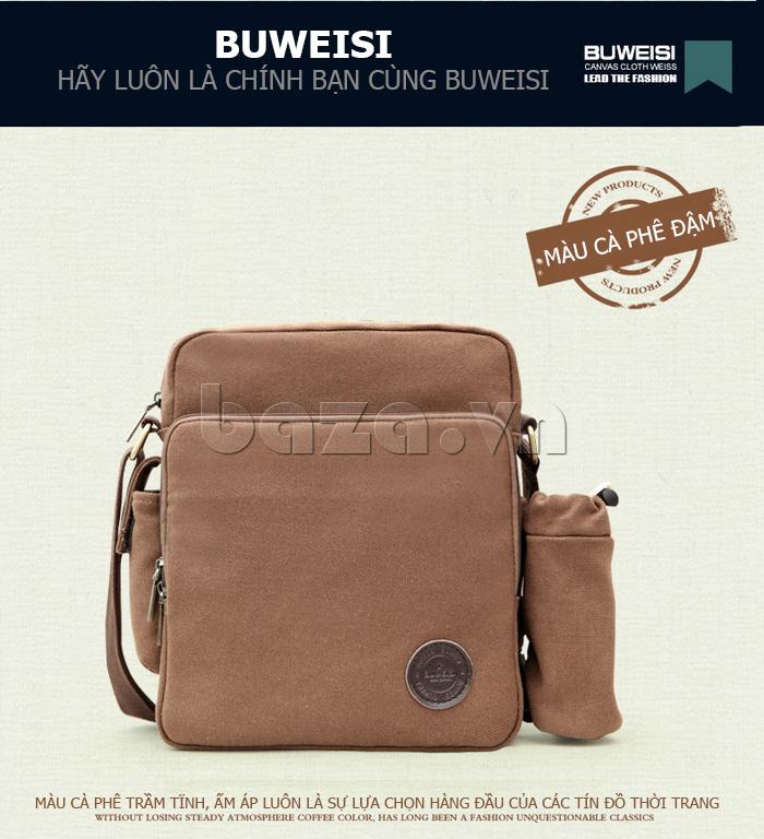 Túi vải nam Feger S038 hai túi nhỏ bên sườn túi vải hot