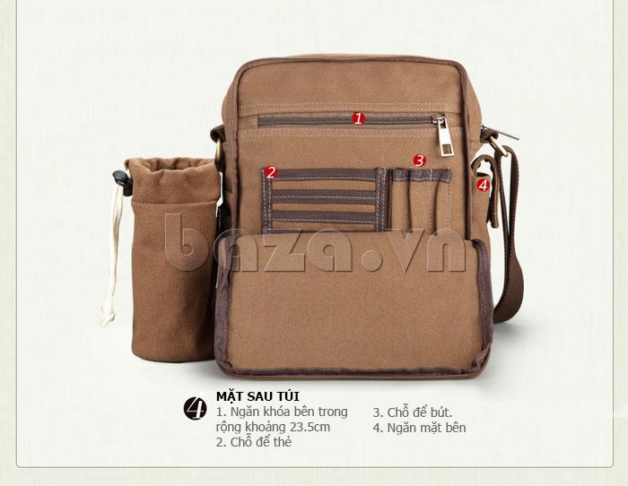Túi vải nam Feger S038 hai túi nhỏ bên sườn túi xinh