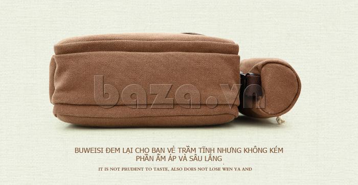 Túi vải nam Feger S038 hai túi nhỏ bên sườn túi vải hiện đại