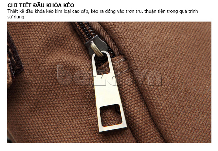 Túi vải nam Feger S038 hai túi nhỏ bên sườn dành cho nam giới