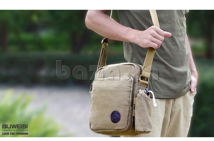 Túi vải nam Feger S038 hai túi nhỏ bên sườn túi vải đẹp
