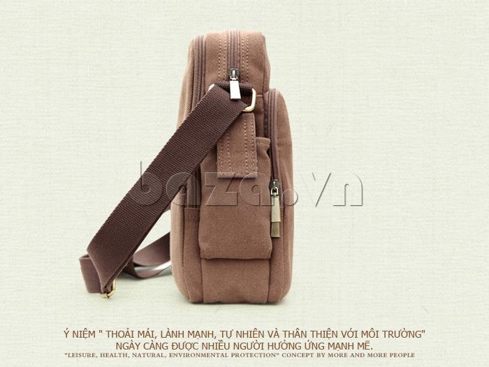 Túi vải nam Feger S038 hai túi nhỏ bên sườn túi vải sành điệu