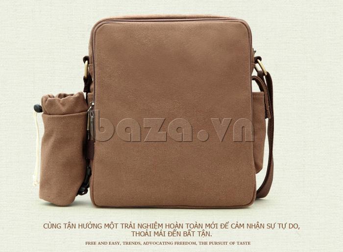 Túi vải nam Feger S038 hai túi nhỏ bên sườn túi hot và đẹp