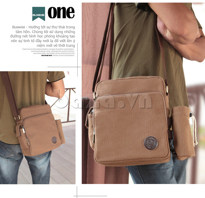 Túi vải nam Feger S038 hai túi nhỏ bên sườn túi hoàn hảo