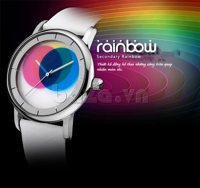 Đồng hồ thời trang Time2U 91-19045 dải cầu vồng lấp lánh