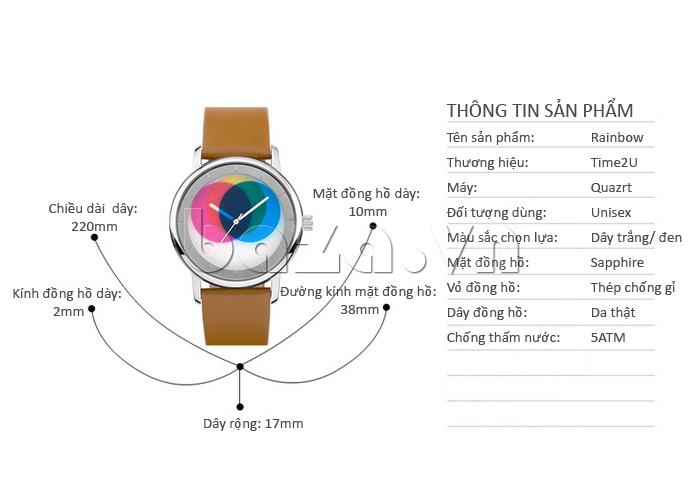 Đồng hồ thời trang Time2U 91-19045 vẻ đẹp thách thức thời gian