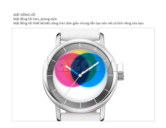 Đồng hồ thời trang Time2U 91-19045 mặt đồng hồ tròn phong cách