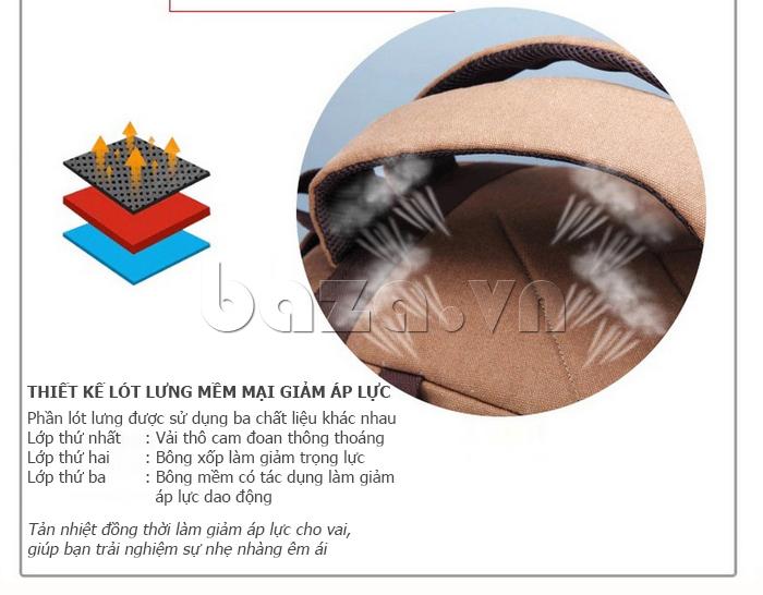 Balo du lịch thời trang Buweisi S072 thiết kế lót lưng mềm  mại, giảm áp lực