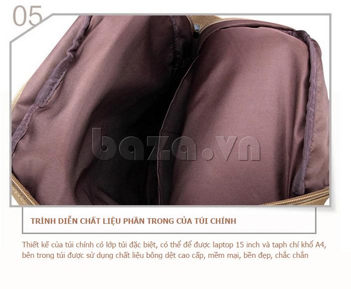 Balo du lịch thời trang Buweisi S072 lót trong chất liệu bền đẹp