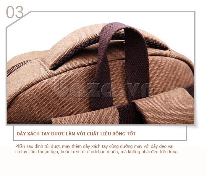 Balo du lịch thời trang Buweisi S072 dây xách làm từ vải bông