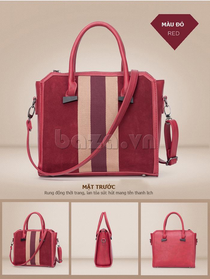 Túi xách nữ Binnitu 082 Thân túi nổi bật  dễ mix đồ phong cách