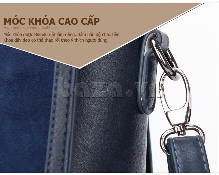 Túi xách nữ Binnitu 082 Thân túi nổi bật  dây đeo có thể tháo rời