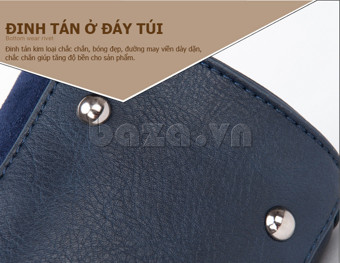 Túi xách nữ Binnitu 082 Thân túi nổi bật  đinh tán kim loại chắc chắn